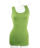 Wholesale Women's Cotton/Spandex Plain Blank Green- Tank Top/Singlet/Vest For Women