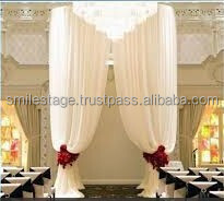 Cheap price telescopic pipe and drape for wedding event