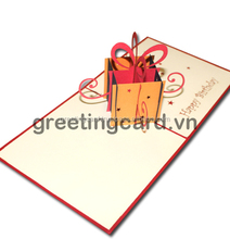 Pop up card greeting card christmas card