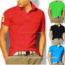 100% algodón de hombre de Polo piqué camisas con <span class=keywords><strong>bordado</strong></span>
