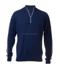Men and women 1/4 zip Merino wool sweater