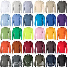 100% Cotton Long Sleeve Tees round neck