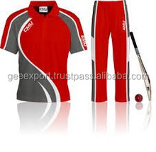 Printed cricket team uniforms