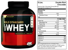 Optimum Nutrition Gold Standard 100% Whey Protein, Double Rich Chocolate - 2 lb bottle