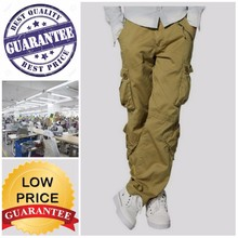 mens solid color twill cargo pant /15 partner factories /most competitive price than chian ,india/Quality guranteed