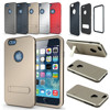Metallic Dual Layer Slim Armor Kickstand Hybrid Cover Case For iPhone 6 4.7 inch