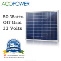 ACOPOWER 50w Polycrystalline Photovoltaic PV Solar Panel Module with MC4 Connectors 12v Battery Charging