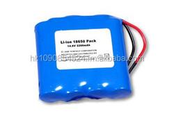 Kinstar li 14.8v 2600mah battery li-ion 14.4v 2200mah battery pack with PCM