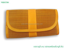 Natural bamboo wallet vietnam eco-material lacquer wallet with cheap price and available for whosale