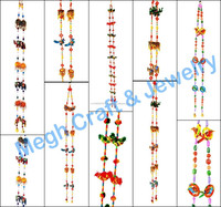 Diwali special home decor items-Gujarati Home traditional wall hanging-Beaded door Hanging-Jeco moti work Toran