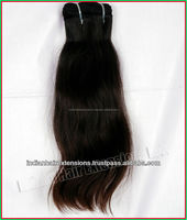 100 grams piece straight cheap and high quality 100% human hair extensions from India
