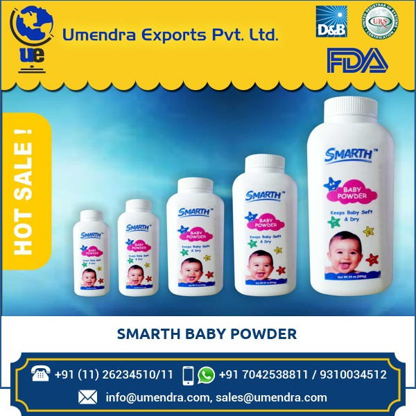 Fornecedor grossista e Exportador de Pó de Talco de Bebê para Venda