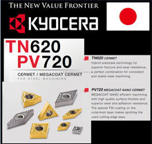 Famous brands low MOQ Kyocera indexable inserts with excellent performance TN620 / PV720
