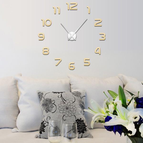 현대 DIY 3D 번호 큰 벽 시계 스티커 거울 표면 홈 룸 장식 SV030320 ...