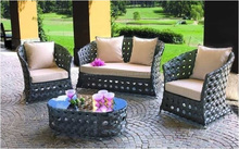 NEW STYLE FURNITURE ,VIET STYLE POLY RATTAN OUTDOOR /GARDEN SET FURNITURE WITH DISCOUNT PRICE