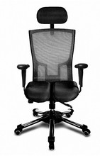 NEW HARA CHAIR, pressure relief of the intervertebral discs and improved buttock circulation. Model: Thales, Color: Black
