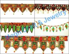 Wholesale Handmade Embroidery work Toran-Indian Ethnic Ganesha and Lakshmi Wall hanging-Indian Embroidery work Door Toran 2015