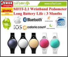 SIFIT-2.1 Pedometer Steps walked keep record every 1 minute. Activity tracker Call reminder.