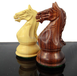 Exclusive Weighted Chess Set Staunton Rose Wood Chess Pieces Indian Craft 4Q