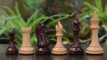 "Fierce Knight Staunton Series Wooden Hand Crafted Chess Pieces in Rose & Box Wood - 4.1"" King - M0059 (FREE SHIPPING)"