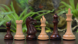 """Fierce Knight Staunton Series Wooden Hand Crafted Chess Pieces in Rose & Box Wood - 4.1"""" King - M0059 (FREE SHIPPING)"""
