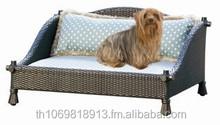 Wicker Pet Bed, Luxury Pet Bed, Outdoor Pet Bed, Handmade Pet Bed