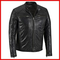 Motorbike Leather Jacket / Leather Jackets in Sialkot for Professional Bikers / Leather Apparel