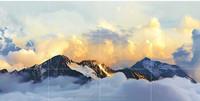 WALL CERAMIC TILE - SUNRISE ON EVEREST MOUNTAIN (12 PCS)