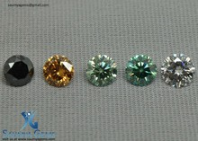 Real Fancy Color Synthetic Moissanite Round Brilliant Cut For Jewelry Uses...