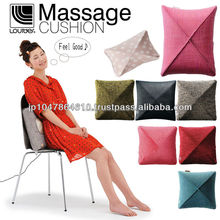 Easy operation massage cushion material with built-in heaters