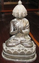 Buddha Bronze Statue Sculpture 25 cm 2 pcs.
