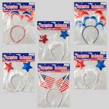 HEADBAND PATRIOTIC 6ASST FLAG/3 STARS/2 HAIR STYLES #G88145