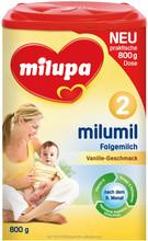 Milupa Milumil 2 800 g bebê fortificado leite em pó baunilha sabor