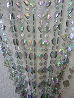 DIAMOND SHAPED IRIDESCENT BEADED CURTAIN