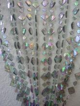 DIAMOND SHAPED IRIDESCENT BEADED CURTAIN