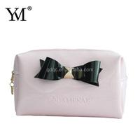 2015 custom fashion satin travel cosmetic bag high quality