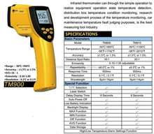 Multifunction TM900 Non-Contact IR Laser Infrared Digital Thermometer -50-950 degree Industrial Temperature Measuring Gun