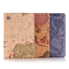 Imprue Map pattern leatehr stand flip case for apple ipad mini 4
