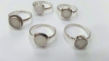 NGMR001- 925 Sterling sliver Drusy Rings India