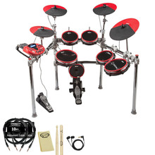 For New DD5X 9pc Electronic Drum Set Complete Package Professional Electric Drums