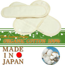 Reusable and gentle on skin sanitary napkin made from organic cotton