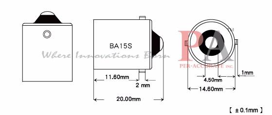 1156 ba15s p21w led light bulb for pinball game machine