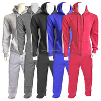 Warm Up Sweat Suit, jogging tracksuit, Jogging bottom with zip up hoodie