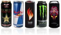 Red...Energy drinks, Bull Energy drinks, Monster energy, XL energy drinks, Shark energy, V energy, Rockstar energy, Black Energy