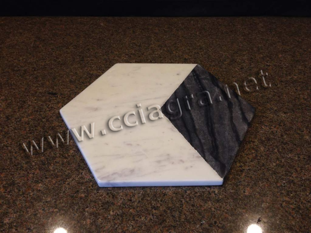 Natural marble cheese cutting board serving tray chopping block trivet buy vegetable chopping - Marble chopping block ...