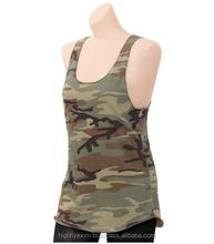 Custom Sexy womens military camouflage printed tank top ladies custom Army camo tank top