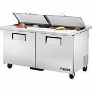 Verdadero refrigeración TSSU-60-16-DS-ST Sandwich / ensalada Prep mesa