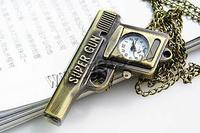Watch Necklace Zinc Alloy Gun 30x48mm 11mm Sold Per Approx 31 Inch Strand