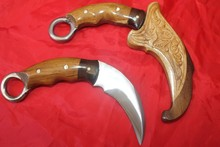 Karambit Traditional Handmade Knife for training Silat with hand carved