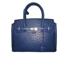 KHATOCO Ostrich Leather Handbag 06112
